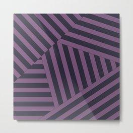 Black and purple geometric pattern Metal Print