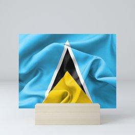 Saint Lucia Flag Mini Art Print