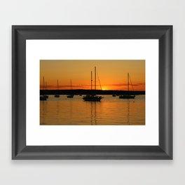 Sailboat Silhouettes  Framed Art Print