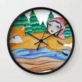 Fox Jump Wall Clock