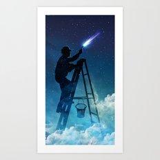 Star Builder Art Print