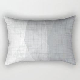 In The Flow - Geometric Minimalist Grey Rectangular Pillow