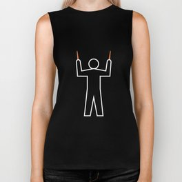 Aircraft Marshaller - STRAIGHT AHEAD Biker Tank
