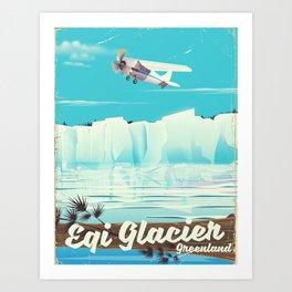 Eqi Glacier Greenland. Art Print
