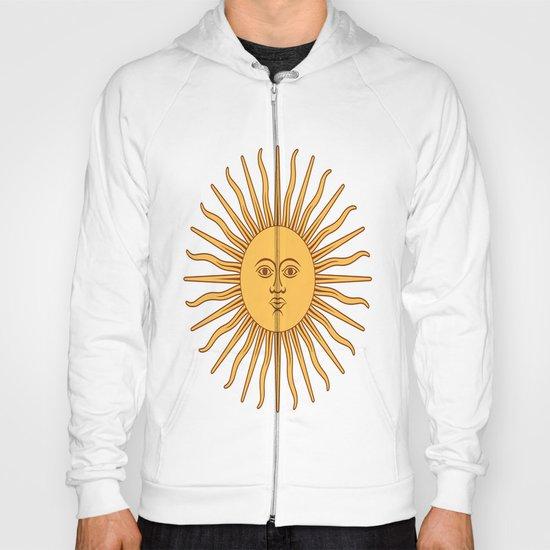 argentina flag sun Hoody