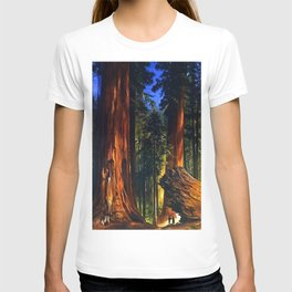 'Redwoods, Yosemite Forest' landscape painting by Gilbert Munger T-shirt