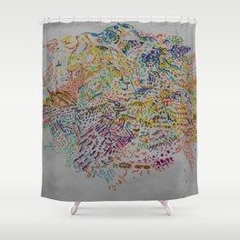 Fragment Reunion Shower Curtain