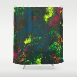 Blacklight Flow Shower Curtain