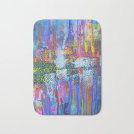REFLECTIVE METROPOLIS - abstract expressionism prophetic art painting Bath Mat