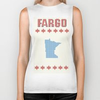 fargo Biker Tanks featuring Fargo Cross Stitch by Cameron Chapman