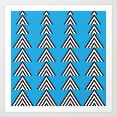 Zig Zag Mountain Art Print