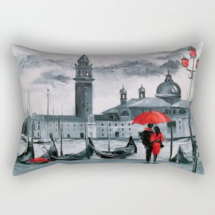 Romantic Venice Rectangular Pillow