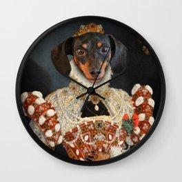 Queen Dixie - Dachshund Art Wall Clock