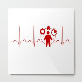 Project Manager Heartbeat Metal Print