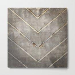 Concrete Chevron Metal Print