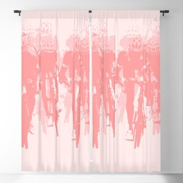 Cyclists in the sprint pink Blackout Curtain
