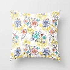 Brilliant Blooms Throw Pillow