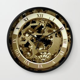 Steampunk Metal Clock Gears Abstract Wall Clock
