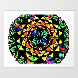 Day and Night Mandala Art Print