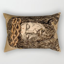 Jesus Christ face vintage Rectangular Pillow