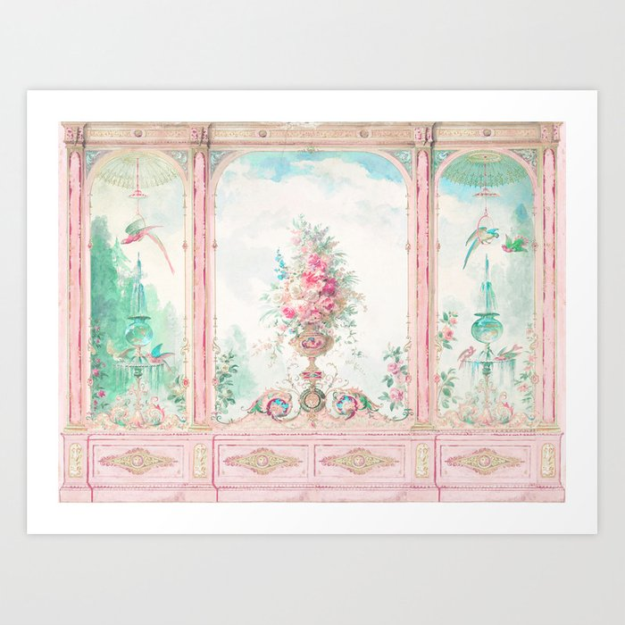 French Conservatory, Garden Room Art Print