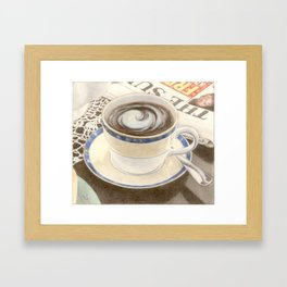 Sunday Morning, coloured pencil Framed Art Print