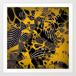 Crazy abstract Nighmare D Art Print