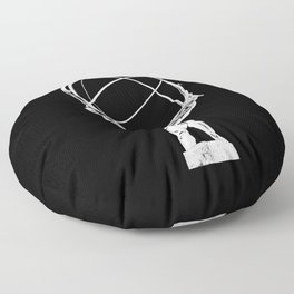 Atlas // Black Floor Pillow