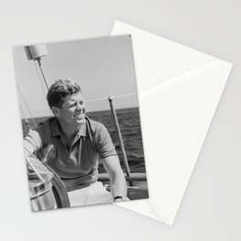 JFK Sailing On Vacation Stationery Cards