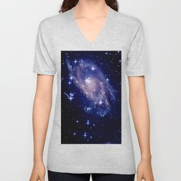Galaxy deep in space. Unisex V-Neck