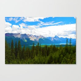 Bald Hills Hike in Jasper National Park, Canada Canvas Print