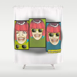 Meanwhile #3 Shower Curtain