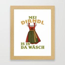 Womens My Dirndl is in the Wash - German Beer drinking Oktoberfest product Framed Art Print