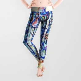 Abstract City In The Summer Of That Year Leggings
