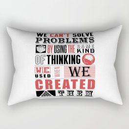 Lab No. 4 - Albert Einstein Inspirational Typography Quotes Poster Rectangular Pillow