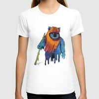 ewok T-shirts featuring Trippy Drippy Ewok by lynsweetart