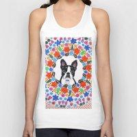 boston terrier Tank Tops featuring Boston Terrier  by Lorraine Stylianou