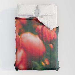 Red Tulips Comforters