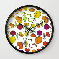 fruits Wall Clocks featuring Fruits by VessDSign