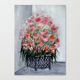 Flowers in the corner Canvas Print