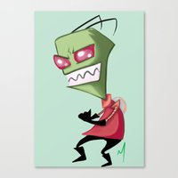 invader zim Canvas Prints featuring Invader Zim by Maxine Art