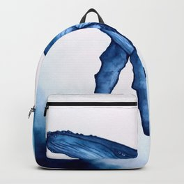 Blue water whale Backpack