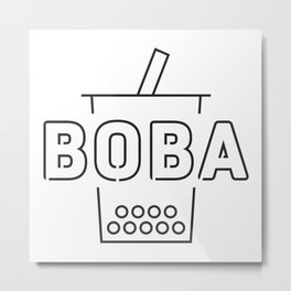 Boba Bubble Milk Tea Metal Print