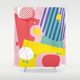 Abstract Pop I Shower Curtain