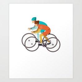 Biker Bike Bicycle Cyclist BMX Bicycling Cycling Exercise Workout Pedal Gift Art Print
