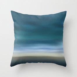 Dreamscape #7 blue-green Throw Pillow