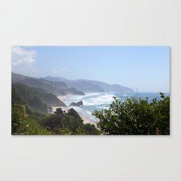 arcadia beach from ecola site park Canvas Print