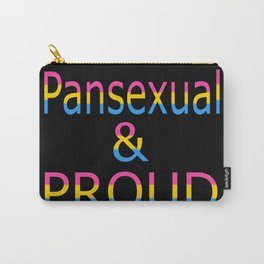 Pansexual and Proud (black bg) Carry-All Pouch