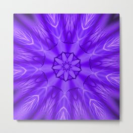 Radiant Purple Kaleidoscope Metal Print