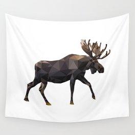 Polygon geometric Moose Wall Tapestry